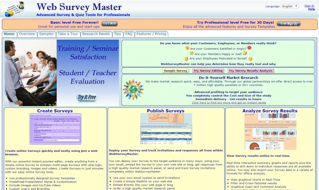 WebSurveyMaster online survey software review   Web-based survey